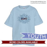 _T-Shirt (Youth): Fireworks USMC
