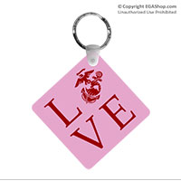 Key Chain: Love w/ EGA