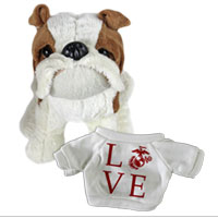 Bull Dog, Plush (t-shirt): Love w/ EGA