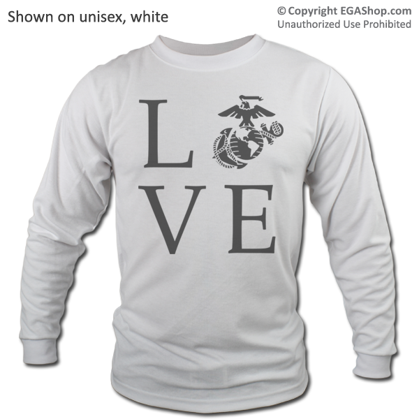 _Long Sleeve Shirt (Unisex): Love w/ EGA