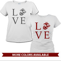 _T-Shirt (Ladies): Love w/ EGA