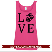 _Ladies Tank Top: Love w/ EGA