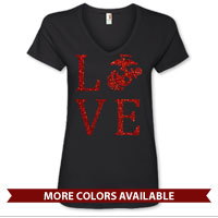 _Ladies V-Neck: Love w/ EGA