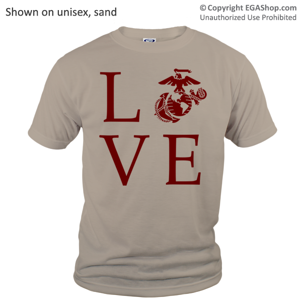 _T-Shirt (Unisex): Love w/ EGA