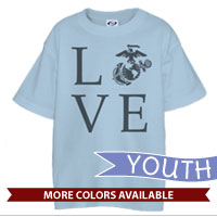 _T-Shirt (Youth): Love w/ EGA