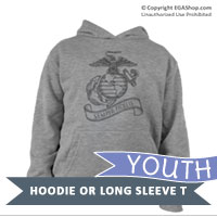 _Youth Hoodie or Long Sleeve Shirt: EGA Semper Fidelis