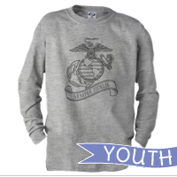 _Youth Long Sleeve Shirt: EGA Semper Fidelis