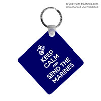 Key Chain: KEEP CALM SEND MARINES