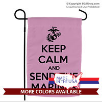 Garden Flag: KEEP CALM SEND MARINES