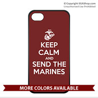 Cell Phone Cover: KEEP CALM SEND MARINES