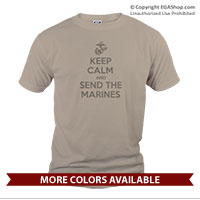 _T-Shirt (Unisex): KEEP CALM SEND MARINES