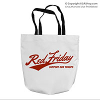 Tote Bag: Red Friday Support Troops