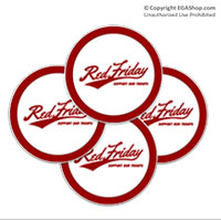 Coaster Set: Red Friday Support Troops (Sandstone or Rubber)