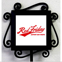 Garden Stake and Tile: Red Friday Support our Troops