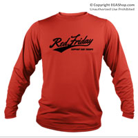 _Long Sleeve Shirt (Unisex): Red Friday Support Troops