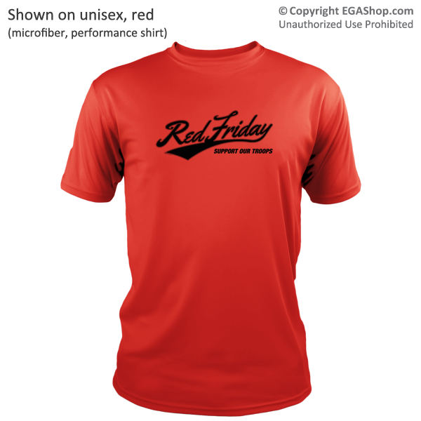 Performance shirt red friday support troops for Red support our troops shirts
