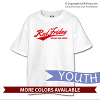 _T-Shirt (Youth): Red Friday Support Troops