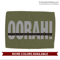 Car Flag: OORAH! It's a Marine Thing (Double-sided, 11x14 w/ pole) Grey
