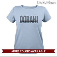 _T-Shirt (Ladies): OORAH! It's a Marine Thing (Grey)