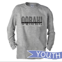 _Youth Long Sleeve Shirt: OORAH! It's a Marine Thing (Grey)