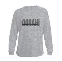 _Youth Hoodie or Long Sleeve Shirt: OORAH! It's a Marine Thing (Grey)