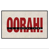 Doormat: OORAH! It's a Marine Thing (18x24) Red