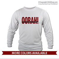 _Long Sleeve Shirt (Unisex): OORAH! It's a Marine Thing, red