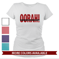 _T-Shirt (Ladies): OORAH! It's a Marine Thing (Red)