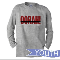 _Youth Long Sleeve Shirt: OORAH! It's a Marine Thing (Red)