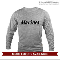 _Long Sleeve Shirt (Unisex): Marines