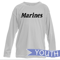 _Youth Performance Long Sleeve Shirt: Marines