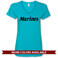_Ladies V-Neck: Marines