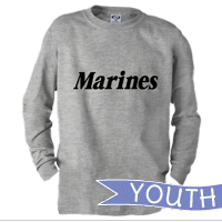 _Youth Long Sleeve Shirt: Marines