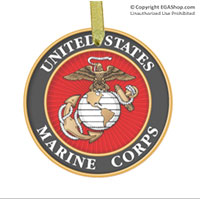 Ornament: Marine Corps Seal (glass)