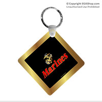 Key Chain: EGA w/ Gold Border