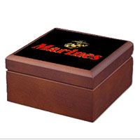 Keepsake Box: EGA w/ Gold Border (4x4)