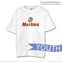 _T-Shirt (Youth): EGA w/ Gold Border