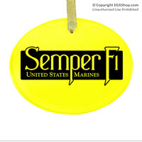 Ornament: Semper Fi (black)