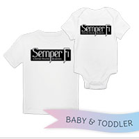 _T-Shirt/Onesie (Toddler/Baby): Semper Fi (black)