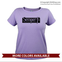 _T-Shirt (Ladies): Semper Fi (black)