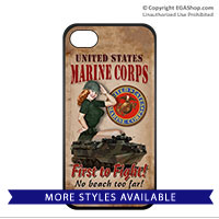 WWII Poster, First to Fight: Cell Phone Cover