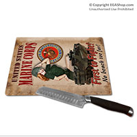 WWII Poster, First to Fight: Cutting Board