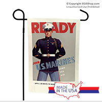 WWII Poster, Ready Marines: Garden Flag