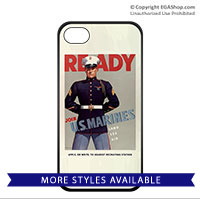 WWII Poster, Ready Marines: Cell Phone Cover