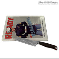 WWII Poster, Ready Marines: Cutting Board