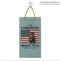 WWII Poster, The Marines Want You: Suncatcher