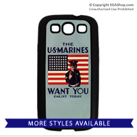 WWII Poster, The Marines Want You: Cell Phone Cover