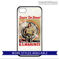 WWII Poster, Smack 'Em Down!: Cell Phone Cover