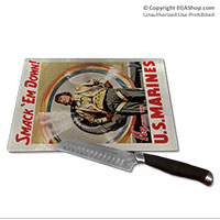 WWII Poster, Smack 'Em Down!: Cutting Board