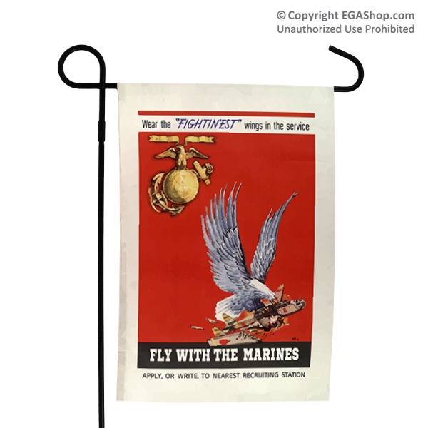 WWII Poster, Fly With Marines: Garden Flag